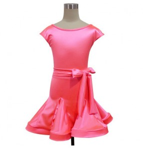 Girl Gymnastics competition Latin Dance Dress Children Ballroom Dance Dresses Kids Salsa Rumba Cha Cha Samba Tango Dress
