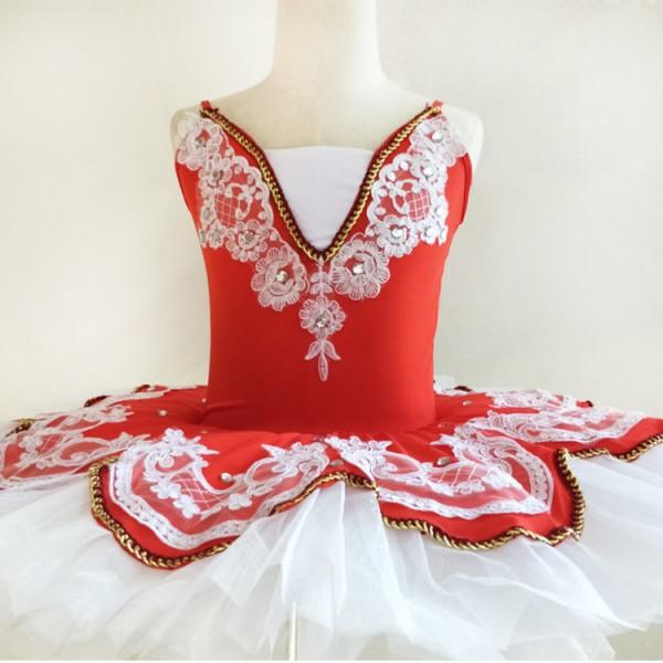 18b43fd918d0 Red light pink Children Pancake Swan Lake Ballet Costume Ballerina ...