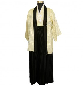 Male Men's kimono traditional Japanese Warrior Kimono Yukata men Bathrobes anime cosplay costumes clothing set costumes