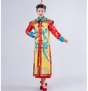 Chinese Emperor Traditional Costume Chinese Ancient Emperor Queen Costume The Qing Dynasty Dragon Robe Chosang