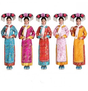Chinese Qing Dynasty Costume New Princess Costume With Headwear princess Chinese folk Queen Ancient Dress