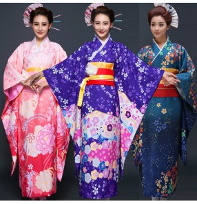 Party Anime Cosplay Cotume Japanese Kimono Women Yukata Traditional Ancient Japanese Kimonos Female Bathrobe Clothes dresses