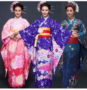 Party Anime Cosplay Cotume Japanese Kimono Women Yukata Traditional Ancient Japanese Kimonos Female Bathrobe Clothes dresses