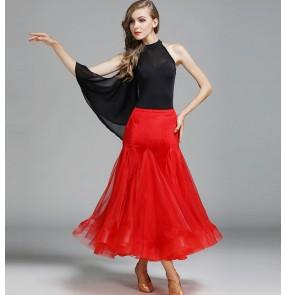 Velvet ballroom dance competition standard dress women Waltz Tango Dance Dress standard Ballroom Competition Costume