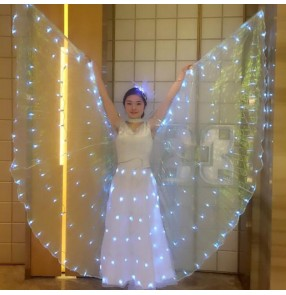 White Belly Dance LED Isis Wings Belly Dancing Accessory Popular Stage Performance competition cosplay Props Wings Props