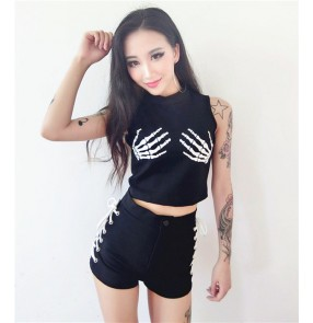 Women Ladies Fashion Design Dance Bodysuits Hiphop Dance Clothes Dance Costume Jazz Girls Singer Stage Performance Wear