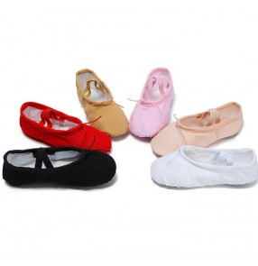 Women's girls convas soft sole ballet belly dance shoes