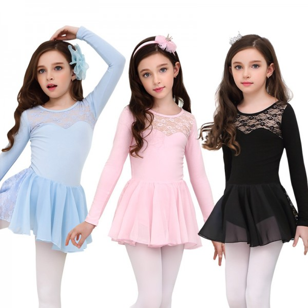58e459515 Light pink girls ballet dance dress kids children lace modern dance ...
