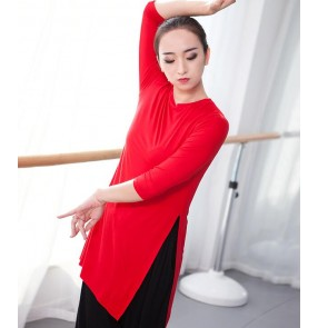 Women's ballet exercises dance tops cotton women's fitness sports modern dance grading training dance practice performance tops