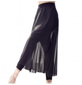 Modern dance women's ballet dance skirts pants female performance dance grading training gymnastics chiffon skirts pants