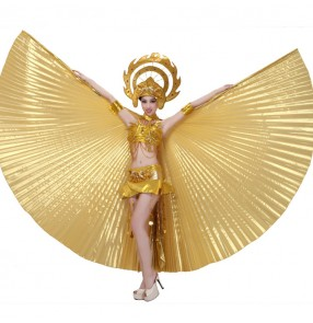 Spanish Bull dance Women's opening dancing gold stage performance samba dance outfits dress costumes