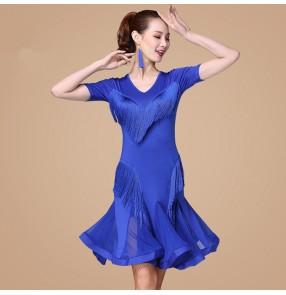 Women's lain dance dress for female competition stage performance ballroom salsa rumba chacha dance dresses