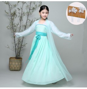 kids chinese folk dance costumes for girls ancient traditional performance princess competition anime cosplay hanfu fairy dancing robe dresses