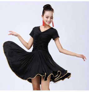 Women's latin dresses for female competition salsa chacha rumba performance pratice exercises dancing dresses costumes