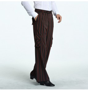 Men's ballroom latin dance long pants male competition stage performance professional salsa rumba chacha dance trousers