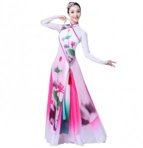 Ancient classical Chinese folk dance dresses women's female competition stage performance fairy drama anime cosplay dance costumes