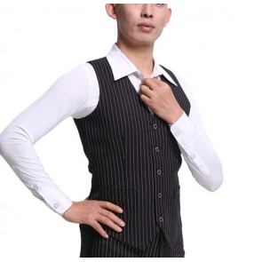 Ballroom latin dancing vest striped men's male competition stage performance ballroom dancing vest waiscoat