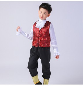 Boys European Russian palace folk dance costumes kids children princess photos drama stage performance cosplay outfits