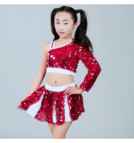 86186a6d6675 cheerleader hiphop street jazz dance outfits for kids children boys ...