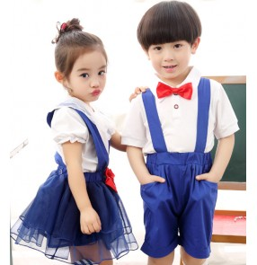 Children school uniforms boys girls chorus cosplay stage performance singers student dancing competition outfits