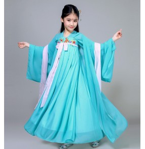 Girls ancient fairy classical folk dance dresses kids children korean japan animate han film cosplay kimono princess dresses