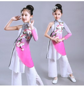Girls ancient folk dance costumes kids children stage performance classical china fairy princess film cosplay dresses costumes