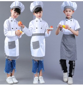 Girls Boy new year film program Cosplay Costume Chef Uniform Kids Kindergarten Games Cooking Clothing Child Kitchen Work Wear Clothes costumes