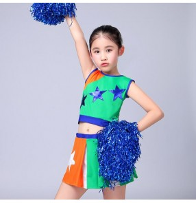 Girls cheerleader jazz dance costumes singers performance dancers exercises soccer sports competition photos cosplay outfits costumes