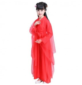 Girls Chinese folk dance costumes ancient traditional fairy hanfu minority ethnic anime cosplay dancing dresses costumes robes