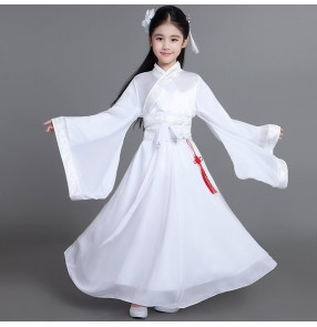 Girls Chinese folk dance dresses kids children competition stage performance fairy traditional classical dancing dresses robes