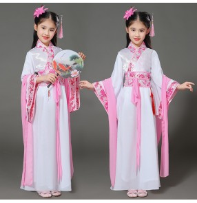 Girls Chinese folk traditional dance dresses girls kids children stage performance film drama cosplay anime fairy kimono dance dresses outfits