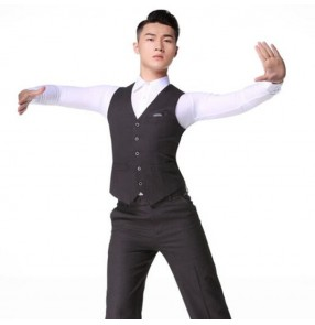 Men's ballroom latin dance vest stage performance competition waltz tango dancing waistcoats