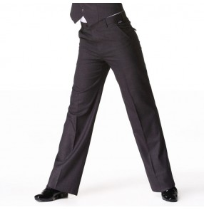 Men's latin ballroom dance pants male chacha jive competition stage performance latin ballroom dancing trousers