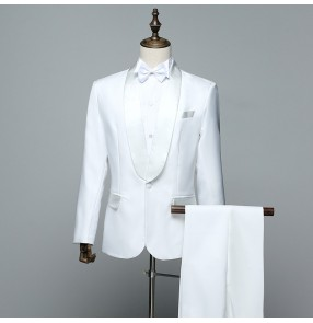 Men's singers dance blazers Cantanti da uomo ballano blazer male performance host wedding party coat and pants