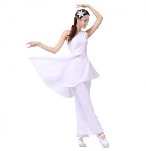 Modern dance ballet dancing dresses for women female competition white traditional performance dancing costumes