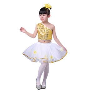 kids modern dance jazz dance outfits for boys girls street dance school competition group dancers singers chorus sequin stage performance costume