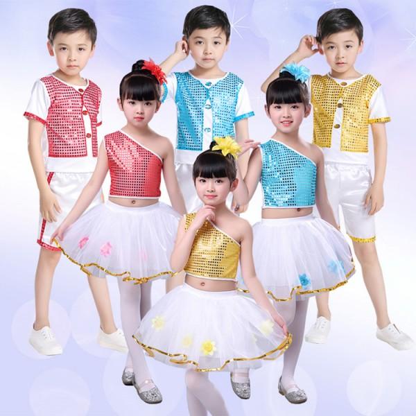 581f8a8ac kids modern dance jazz dance outfits for boys girls street dance ...