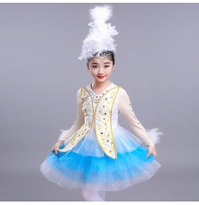Kids modern dance dresses ballet dress for girls children  jazz singers chorus singers cosplay princess dresses