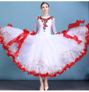 Women's ballroom tango dance dresses standard competition professional waltz long dresses