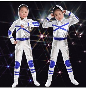 kids anime robot astronaut space stage performance costumes party cosplay cartoon costume children spacesuit modern dance performance outfits