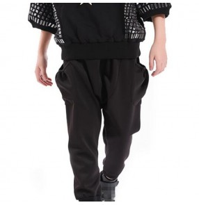 Boy's stage performance hiphop street modern dance loose style jazz singers show competition harem pants trousers