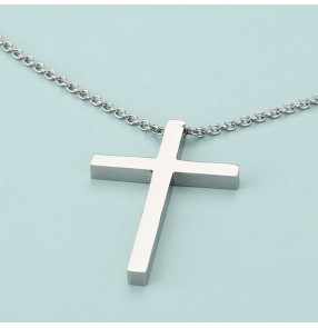 2PCS Cross-punk necklace Christian hip-hop street punk role dance necklace Vintage European and American style necklace