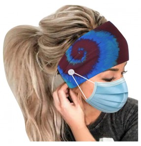 2PCS Yoga running sports gyms fitness sweat absorb headband for unisex wearing face masks elastic headscarf turban for women men