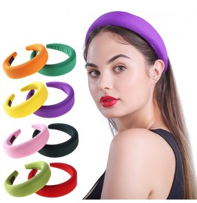 3pcs Hair accessories Hair band thick sponge ring solid color wash face beauty headband headdress for women