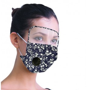 3PCS Reusable face masks for unisex cotton floral mouth mask pm2.5 dust proof eye protection shield face masks for adult