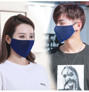 3pcs reusable face masks for unisex plaid dust proof protecive mouth mask for women and men
