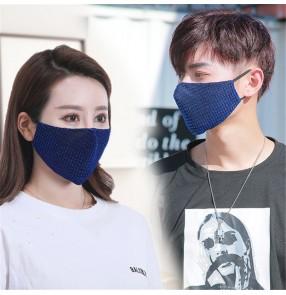 3pcs reusable face masks for unisex plaid dust proof protecive mouth mask for women and men