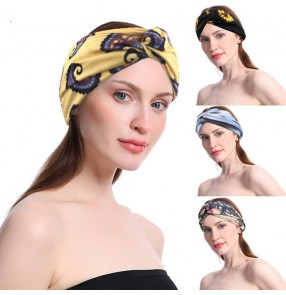 3pcs Women's sports yoga workout running cycling floral headband beauty wash face hair band for female