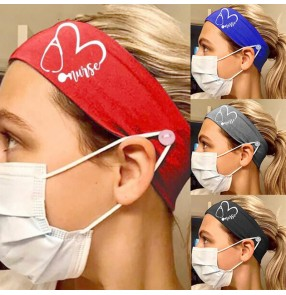 3pcs Women's yoga sports running cycling fitness gyms head band with button ear saving wearing face mask for unisex