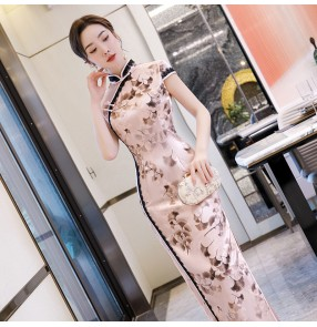 Chinese dress qipao dress traditional oriental cheongsam dress photos model miss etiquette show drama cosplay dresses